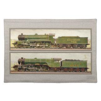 Vintage British Steam trains Placemat