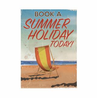 vintage british travel poster. cutout