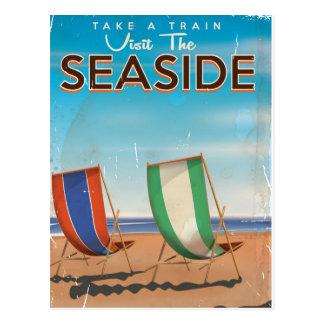 Vintage British Travel Seaside poster. Post Cards