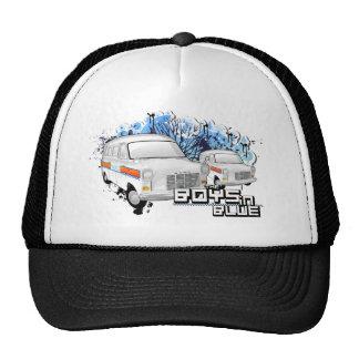 Vintage British White Police Vans Mesh Hats