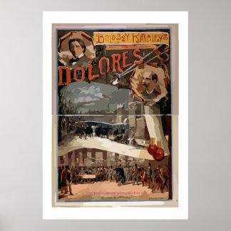 """Vintage Broadside-Bolossy-Kiralfy-grand Parison Poster"
