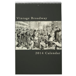 Vintage Broadway New York Antique Cityscape Calendar