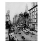 Vintage Broadway NYC Photograph (1920) Póster