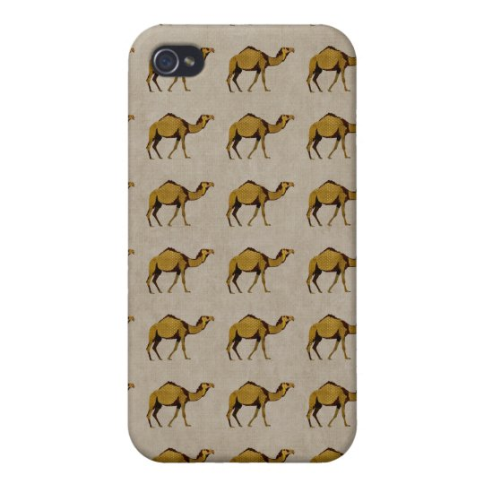 Vintage Bronze Camel Pern i Case For iPhone 4
