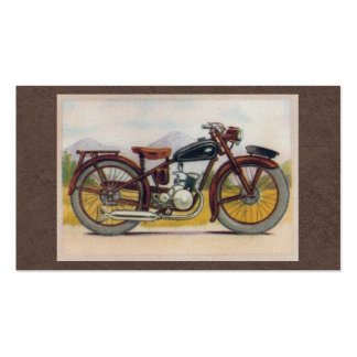 Vintage Bronze Motorcycle Print Double-Sided Standard Business Cards (Pack Of 100)