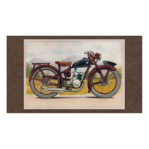 Vintage Bronze Motorcycle Print Business Card