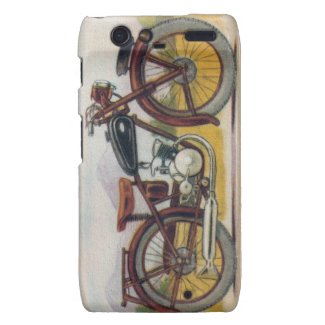 Vintage Bronze Motorcycle Print Droid RAZR Cover