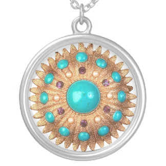vintage Brooche Necklace