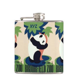 "Vintage ""Brookfield Zoo"" custom monogram flask"