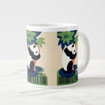 """Vintage """"Brookfield Zoo"""" custom monogram mugs"""