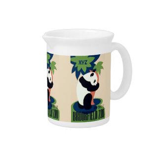 "Vintage ""Brookfield Zoo"" custom monogram pitcher"