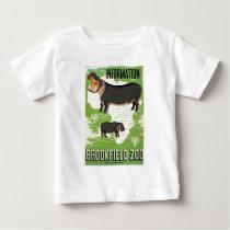 Vintage Brookfield Zoo Hippopotamus WPA Baby T-Shirt
