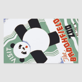 Vintage Brookfield Zoo Panda WPA Stickers