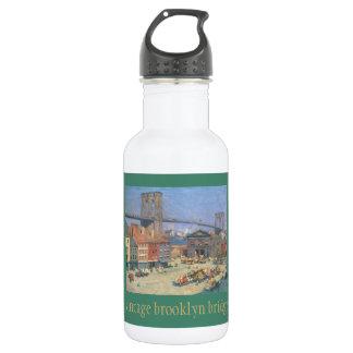 Vintage Brooklyn Bridge 18oz Water Bottle