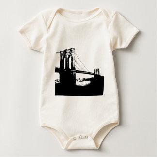 Vintage Brooklyn Bridge Baby Bodysuit