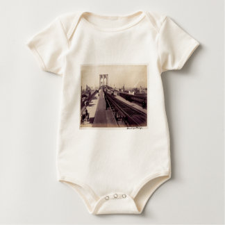Vintage Brooklyn Bridge Baby Creeper