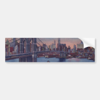 Vintage Brooklyn Bridge Car Bumper Sticker