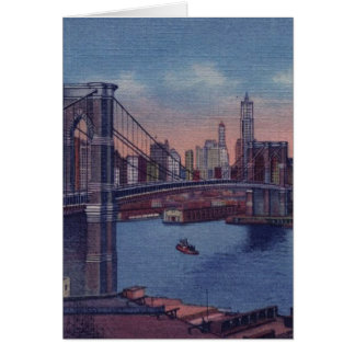 Vintage Brooklyn Bridge Card