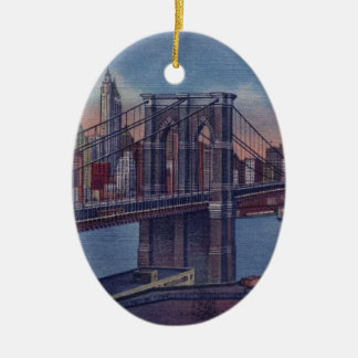 Vintage Brooklyn Bridge Christmas Ornaments