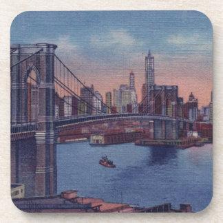 Vintage Brooklyn Bridge Coaster