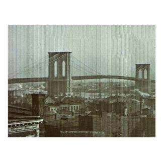 Vintage Brooklyn Bridge Glass Slide Postcard