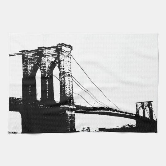 Vintage Brooklyn Bridge Hand Towel