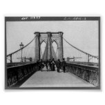 Vintage Brooklyn Bridge New York City NY 1898 Posters