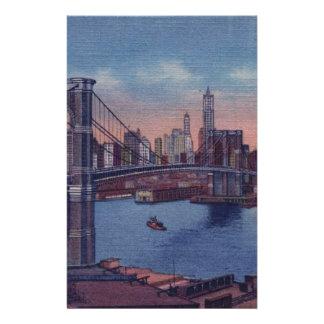 Vintage Brooklyn Bridge Stationery