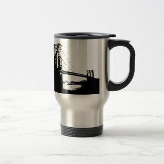 Vintage Brooklyn Bridge Travel Mug