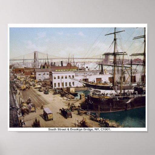 Vintage Brooklyn New York, c1901 Poster