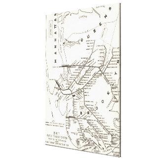Vintage Brooklyn NY Transit System Map (1912) Canvas Print