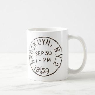 vintage brooklyn nyc new york city trendy postage coffee mug
