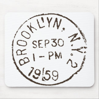 vintage brooklyn nyc new york city trendy postage mouse pad
