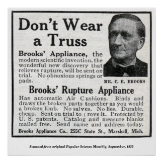 Vintage Brook's Appliance Truss Ad Poster