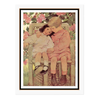 Vintage Brother and Sister by Jessie Willcox Smith Postcard