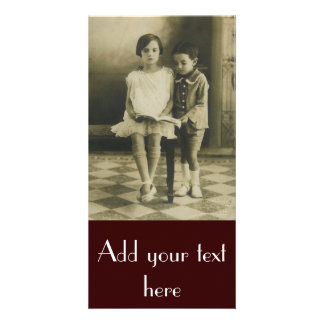 Vintage Brother and Sister Photo Card