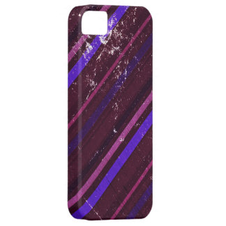 Vintage Brown and Purple Stripes Pattern iPhone SE/5/5s Case
