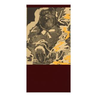 Vintage Brown Bear Photocard Card