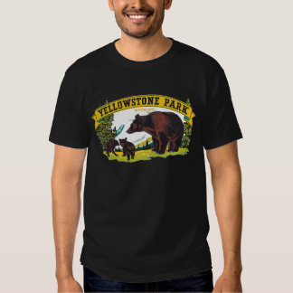 Vintage Brown Bears in Yellowstone National Park T Shirt