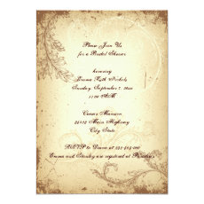 Vintage brown beige scroll leaf bridal shower 5