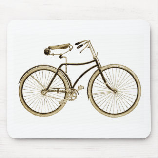 Vintage Brown Bike Mouse Pad