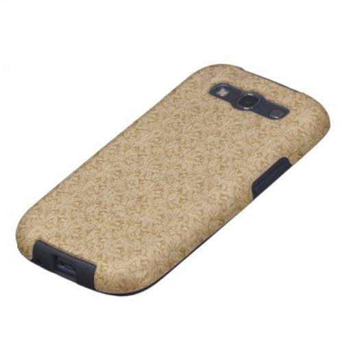 Vintage Brown Floral Pattern 1 Galaxy S3 Case