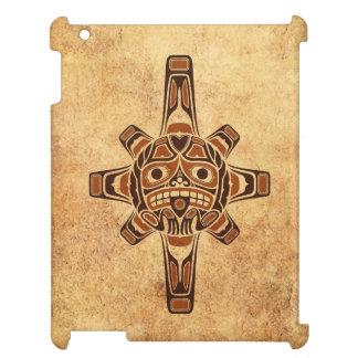 Vintage Brown Haida Sun Mask Case For The iPad 2 3 4