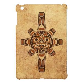 Vintage Brown Haida Sun Mask iPad Mini Covers