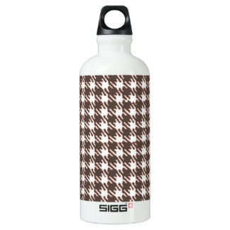 Vintage brown houndstooth water bottle