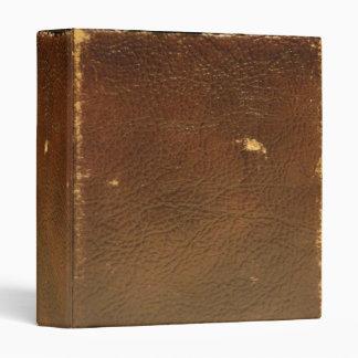 Vintage Brown Leather faux 3 Ring Binder