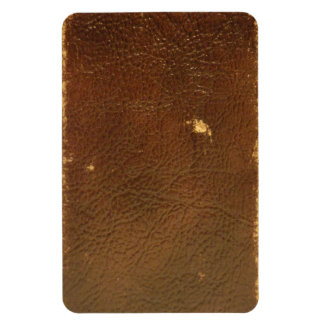 Vintage Brown Leather faux Magnet