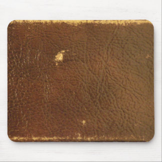 Vintage Brown Leather faux Mouse Pad