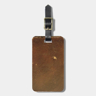 Vintage Brown Leather faux Tag For Bags