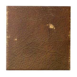 Vintage Brown Leather faux Ceramic Tiles
